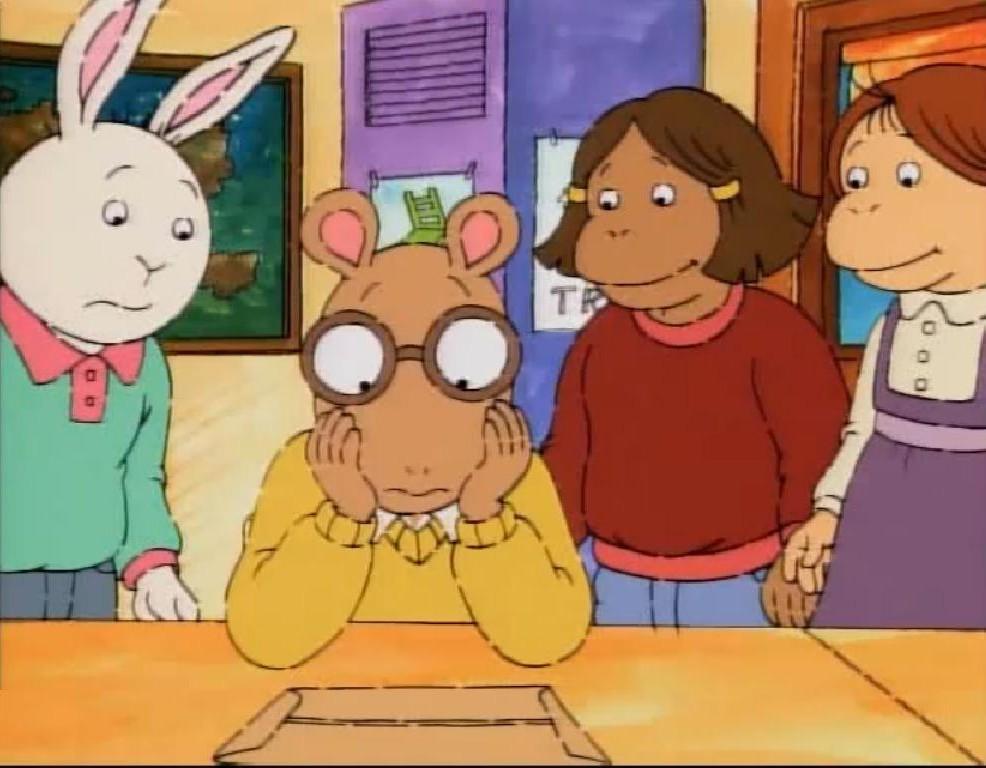 Arthur francine with glasses