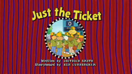 Just the Ticket Title Card