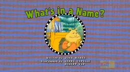 Whatsinaname title card