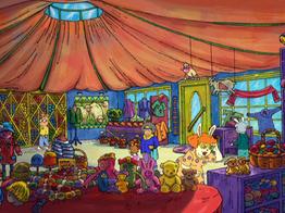 The Yarn Yurt Interior