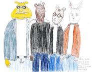 Arthur, Buster, Brain, and Binky as Teenagers 001B