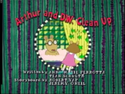 Arthur and D.W. Clean Up Title Card