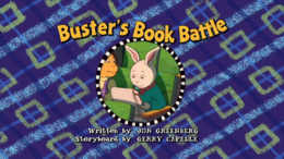 Buster's Book Battle Title Card