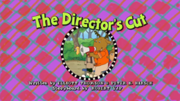 The Director's Cut Title Card