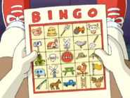 Buster's Carpool Catastophe Car Bingo Card
