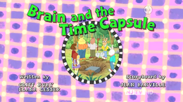 Brain and the Time Capsule title card