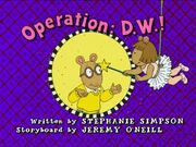 Operation D.W. Title Card