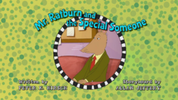Mr. Ratburn and the Special Someone Title Card