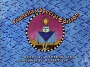 Prunella's Special Edition Title Card