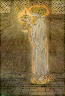 Rackham's Grail maiden, for Pollard's 1917 version