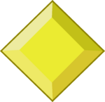 Yellow diamond gem