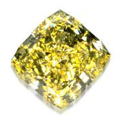 Yellow diamond crystal