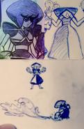 Charoite doodles