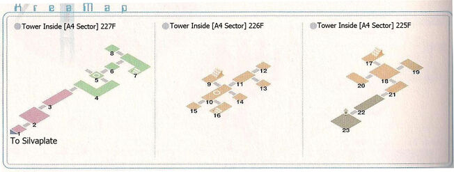 Tower Sector A4 227~225F Area Map