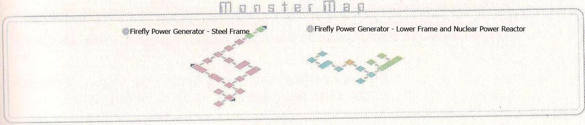 Firefly Power Generator Monster Map