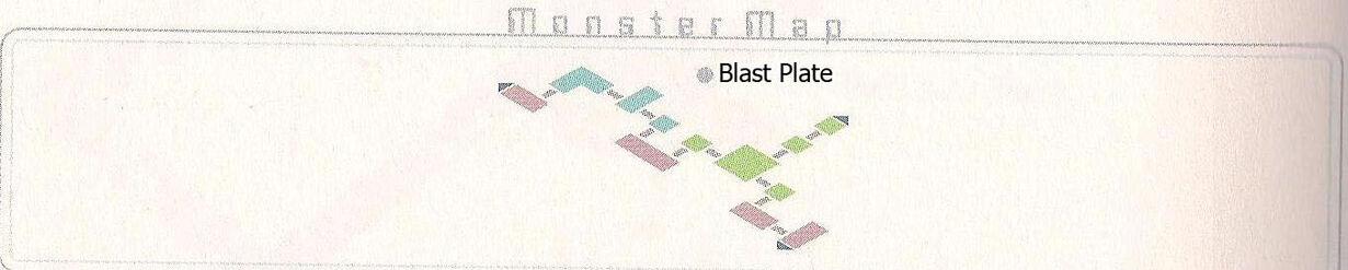 Blast Plate Monster Map