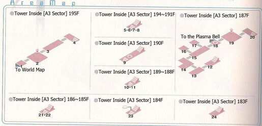 Tower Sector A3 195~183F Area Map