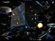 106 battle of wolf359 borg invasion free startrek computer desktopwallpaper l-1