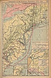 American Revolution Campaigns 1775 to 1781