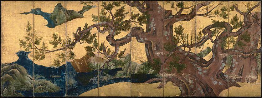 Kano Eitoku - Cypress Trees
