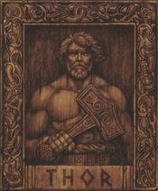 Thor sur bois
