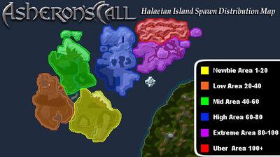 Halaetan Spawn Distribution