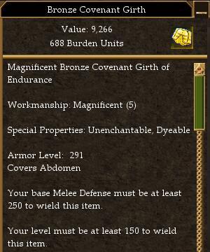 Covenant Melee 250 Missile 205 Magic 185 (tier 7) Maximum AL