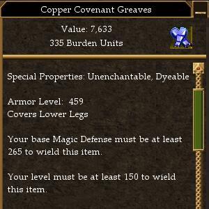 Covenant Melee 350 Missile 290 Magic 265 (tier 7) Maximum AL