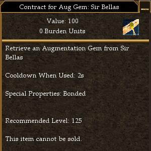 Contract for Aug Gem- Sir Bellas