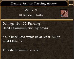 Deadly Armor Piercing Arrow
