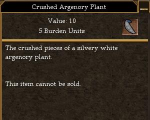 Crushed Argenory Plant