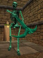 Bronze Statue of a Skeleton (Mammet) Live