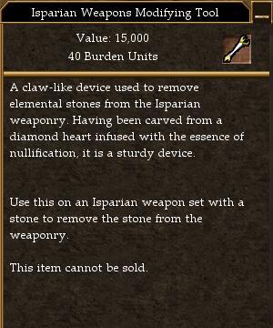 Isparian Weapons Modifying Tool