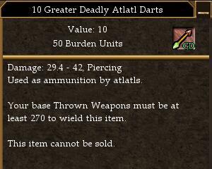 Greater Deadly Atlatl Dart