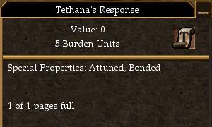 Tethana's Response
