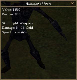 Hammer of Frore-Sudden Season