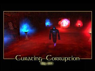 Curating Corruption Splash Screen