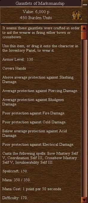 Gauntlets of Marksmanship (Keep Your Enemies Closer)