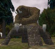 Tusker Shrine Statue Live