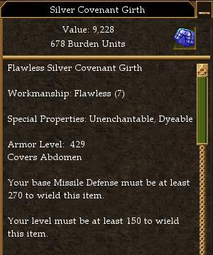 Covenant Melee 325 Missile 270 Magic 245 (tier 7) Maximum AL
