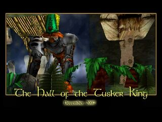 The Hall of the Tusker King Splash Screen