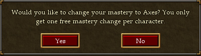 Weapon Mastery Change