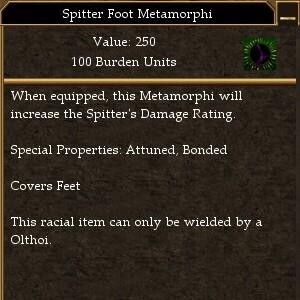 Spitter Foot Metamorphi (Damage Rating)