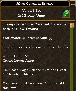 Covenant Melee 400 Missile 330 Magic 300 (tier 7) Maximum AL