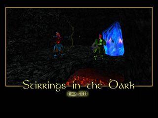 Stirrings in the Dark Splash Screen