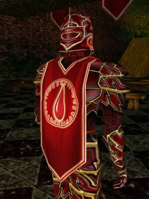 Radiant Blood Society Armor Back Live