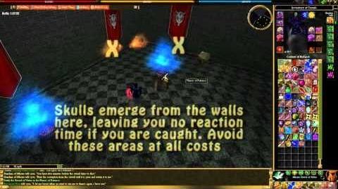 Mhoire Castle Southwest Tower Flaming Skull Test