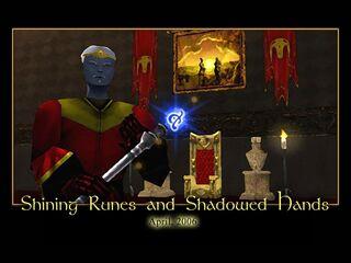 Shining Runes and Shadowed Hands Splash Screen