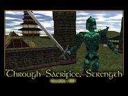 Through Sacrifice, Strength Splash Screen