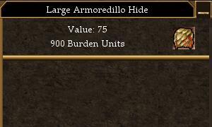 Large Armoredillo Hide